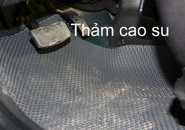 Thảm cao su kém chất lượng